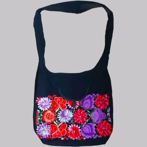 Embroidered Flower Fabric Purse summer